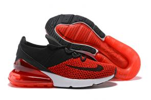 nike air max 270 flyknit trainers red black knit