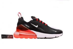 nike air max 270 flyknit trainers small logo black