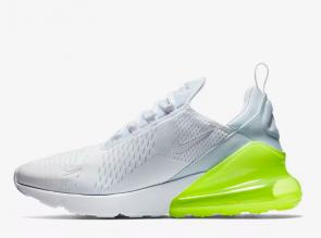nike air max 270 flyknit trainers white green