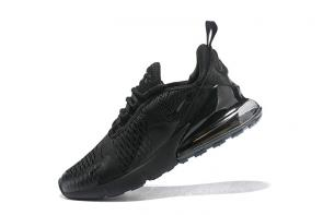 nike air max 270 flyknit trainers femmes hommes black
