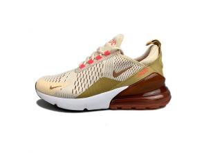 nike air max 270 flyknit women 2019 size 36-39 brown red pink