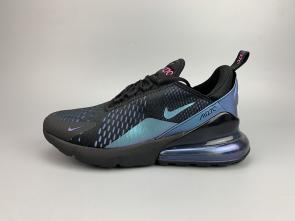 nike air max 270 flyknit women man 2019 blau black
