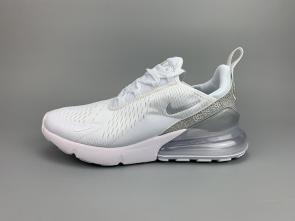 nike air max 270 flyknit women man 2019 white gray