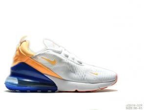 nike air max 270 ultra  flyknit orange blue white
