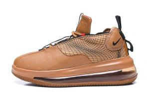 nike air max 720 3 gs running shoes brown