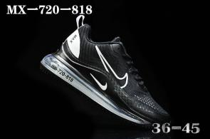 nike air max 720 818 discount black white