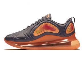 nike air max 720 new  sneakers orange gris