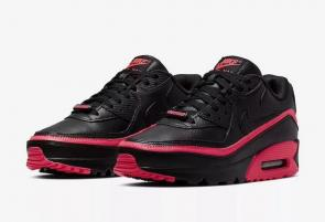 nike air max 90 flyknit 2.0 sneakers 30th_3450 red black
