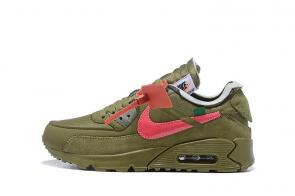 nike air max 90 off white virgil abloh desert ore green