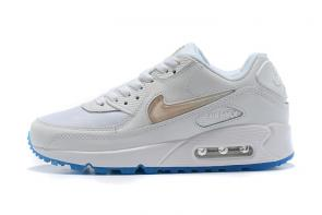 nike air max 90 prm curry  women white blue crystal women man