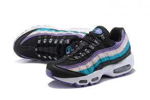 nike air max 95 femme multicolor purple black