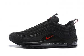 nike air max 97 boys undefeated log black red logo