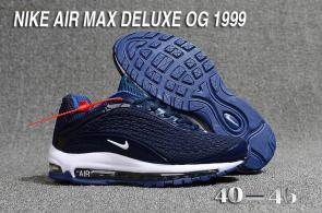 nike air max deluxe fit ebay hot 1999 blue white