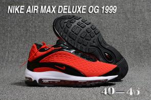 nike air max deluxe fit ebay hot 1999 cool red
