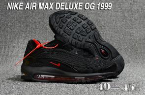 nike air max deluxe fit ebay hot 1999 noir rouge