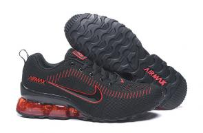 nike air max new 2020 flyknit black logo red