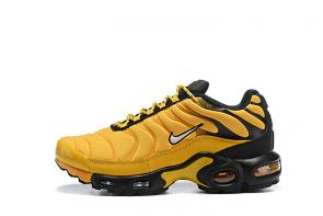nike air max plus tn leather cool yellow