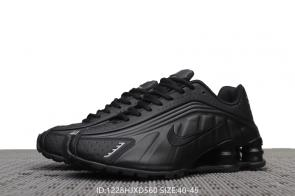 nike air max shox r4 all black