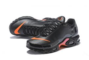 nike air tn leather tn black orange