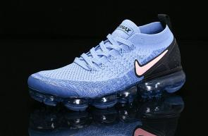 nike air vapormax flyknit id for running 942842-401 blue black