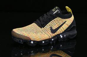 nike air vapormax flyknit id for running heio89-006 yellow black