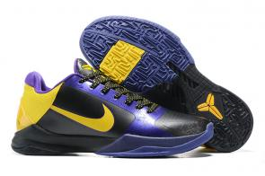 nike kobe 5 shoes buy online black purple gold