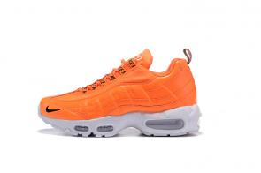 nike premium air max 95 trainers orange