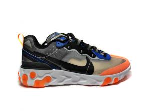 nike react element 87 colorway trainers shoes undercover x orange gray