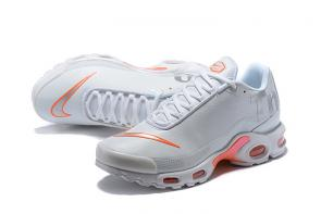 nike tn homme leather tn white orange