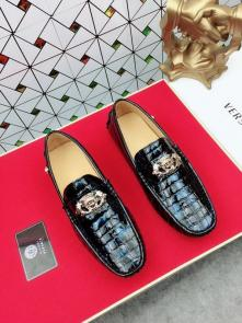nouvelle chaussure versace 2018 moccasin-gommino leather