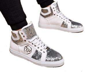 philipp plein chaussure basse casual high leather