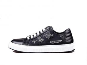 philipp plein chaussure basse metal snap calf leather