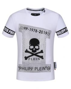 philipp plein couture t-shirt round neck 1978-2019 decoration de perles