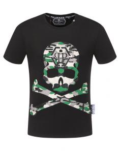 philipp plein couture t-shirt round neck army skull