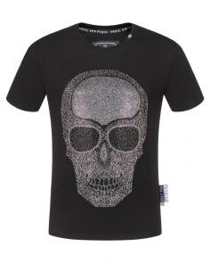 philipp plein couture t-shirt round neck brain skull