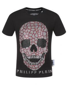 philipp plein couture t-shirt round neck smile skull