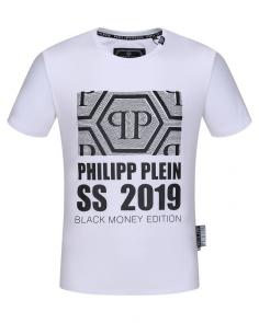 philipp plein couture t-shirt round neck ss 2019 white