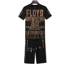 philipp plein ensemble jogging short sleeve floyd mayweather 50th