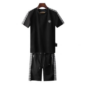 philipp plein ensemble jogging short sleeve qp699 logo side