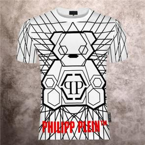 philipp plein t shirt mens sale rhinestone white