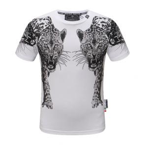 philipp plein t shirt new haute qualite double leopard graphics