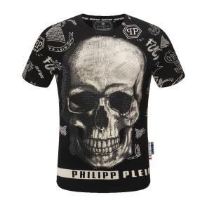 philipp plein t shirt new haute qualite fashion dollar skull fuk