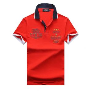 polo ralph lauren t shirt hommess lapel air force an crown embroidery red