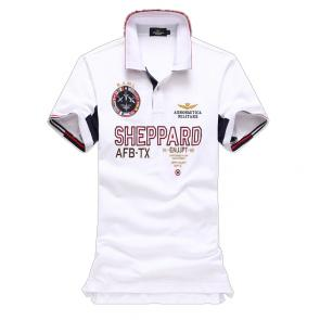 polo ralph lauren t shirt hommess lapel air force sheppard white