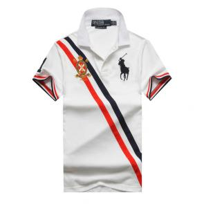 polo ralph lauren t shirt hommess lapel stripe big polo white