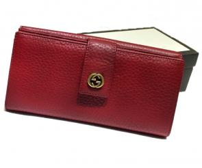 portefeuille gucci homme low price gg leather red 19-10cm
