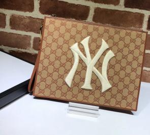 portefeuille gucci homme low price original gg pouch with ny yankees patch 28-22-3.5cm