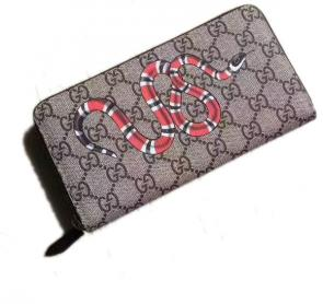portefeuille gucci homme low price snake print gg supreme zip around-919