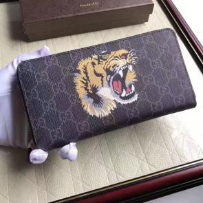 portefeuille gucci homme low price tiger print gg supreme zip around-916