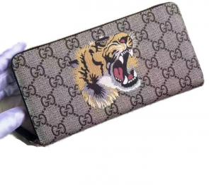 portefeuille gucci homme low price tiger print gg supreme zip around-917